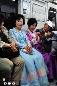 Hanbok on the subway